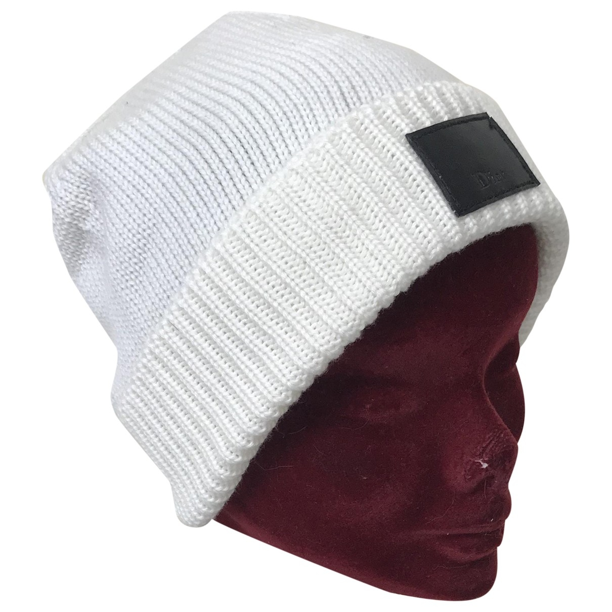 Dior Homme \N Hut, Muetzen in  Weiss Wolle