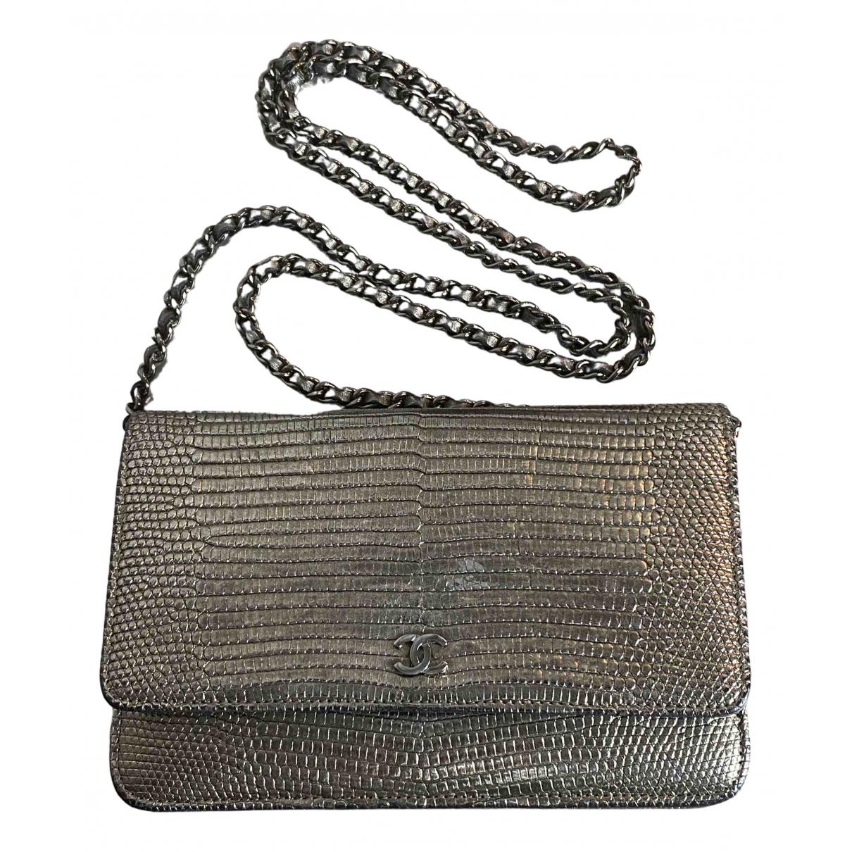 Chanel Wallet on Chain Metallic Lizard handbag for Women \N