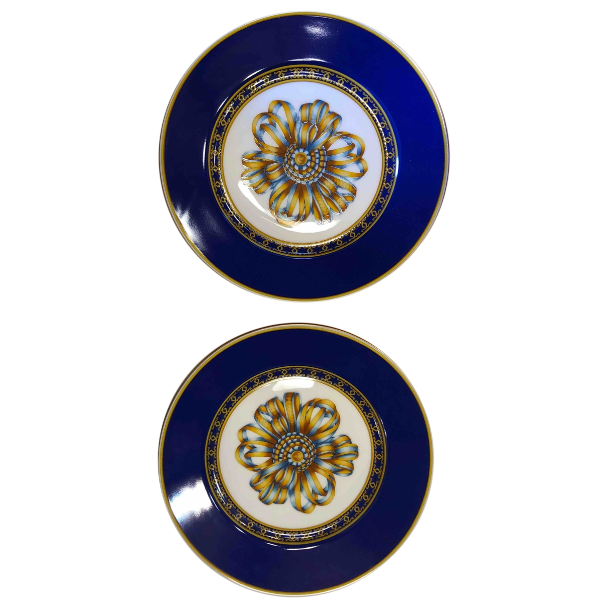 Hermes \N Tischkultur in  Blau Porzellan