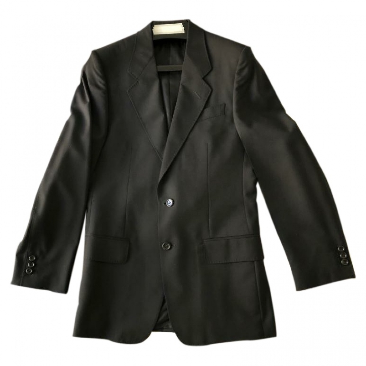 Yves Saint Laurent \N Jacke in  Schwarz Wolle