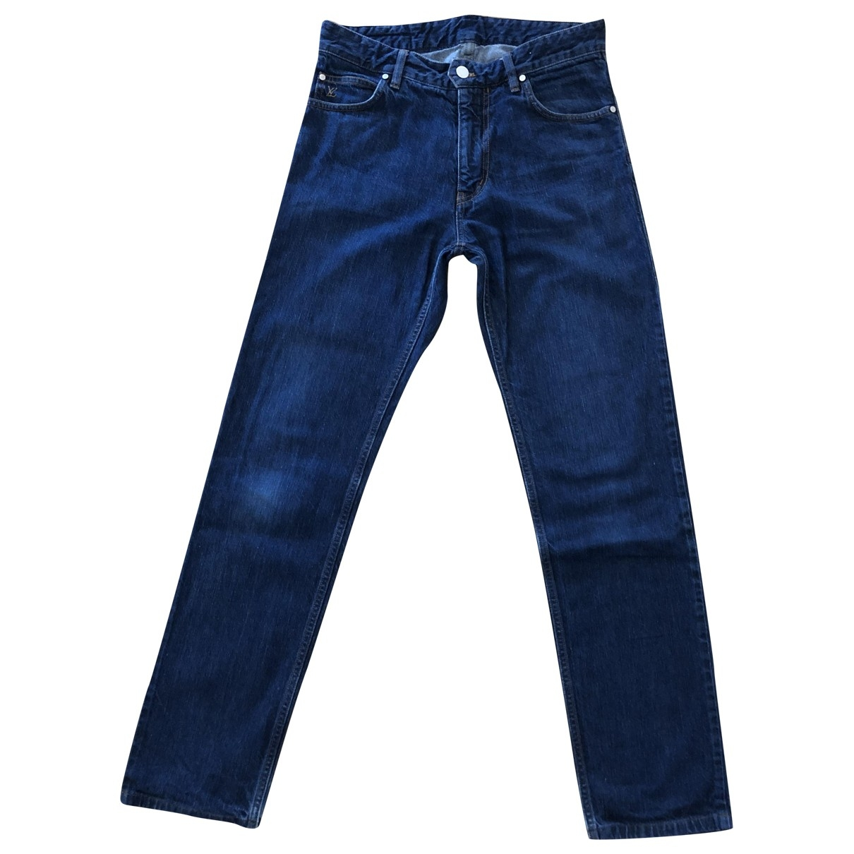Louis Vuitton \N Navy Cotton Jeans for Men 28 US