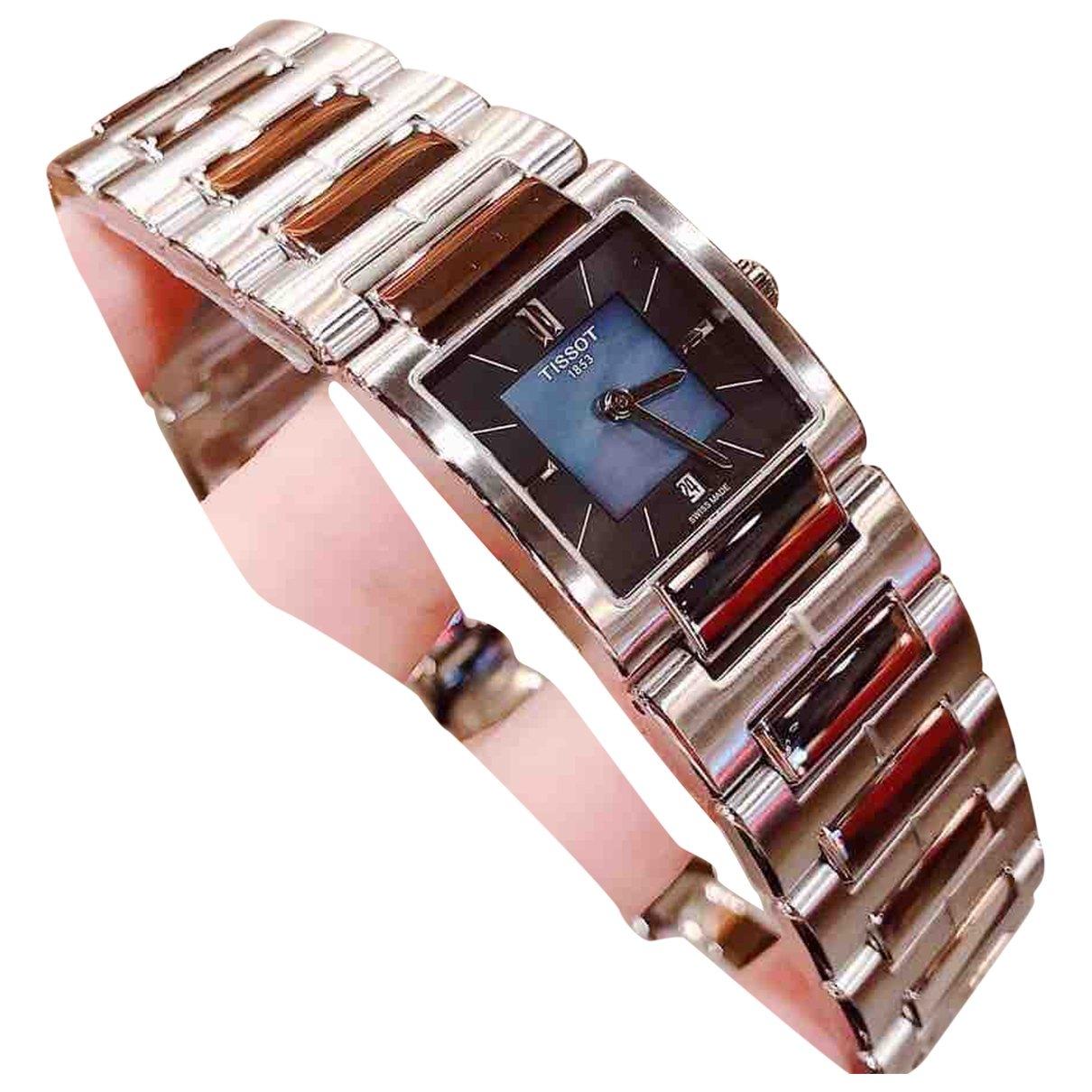 Tissot - Montre   pour femme en acier - argente