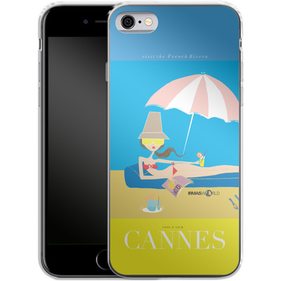 Apple iPhone 6s Silikon Handyhuelle - CANNES TRAVEL POSTER von IRMA