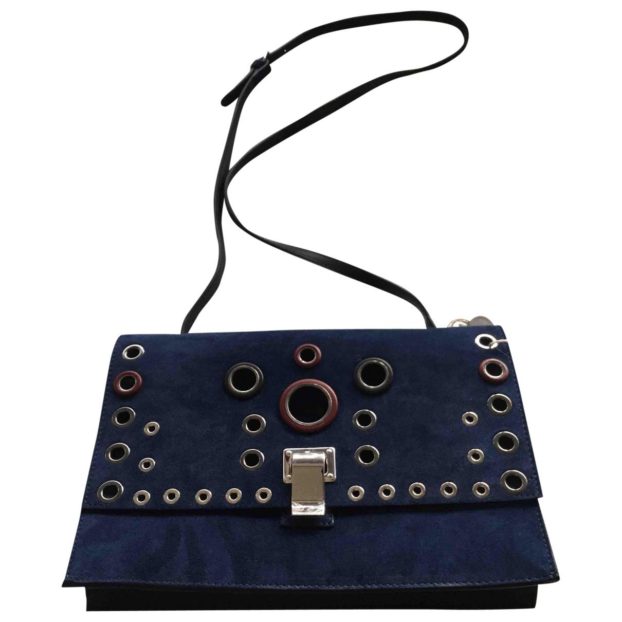 Proenza Schouler - Pochette   pour femme en suede - bleu