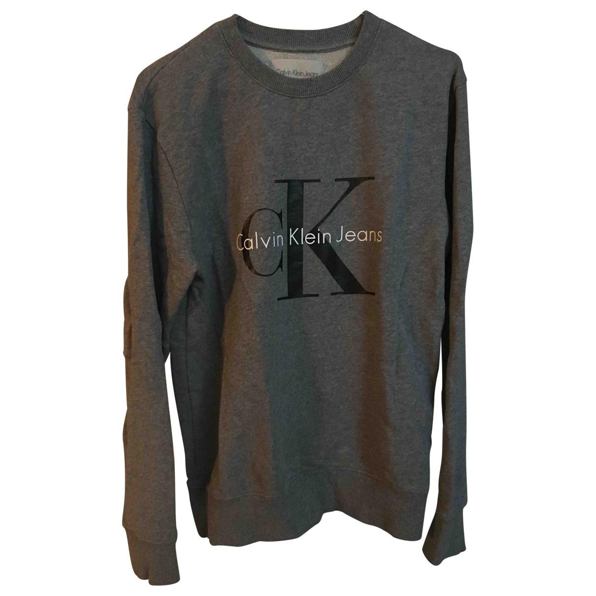 Calvin Klein \N Grey Cotton Knitwear for Women 36 IT