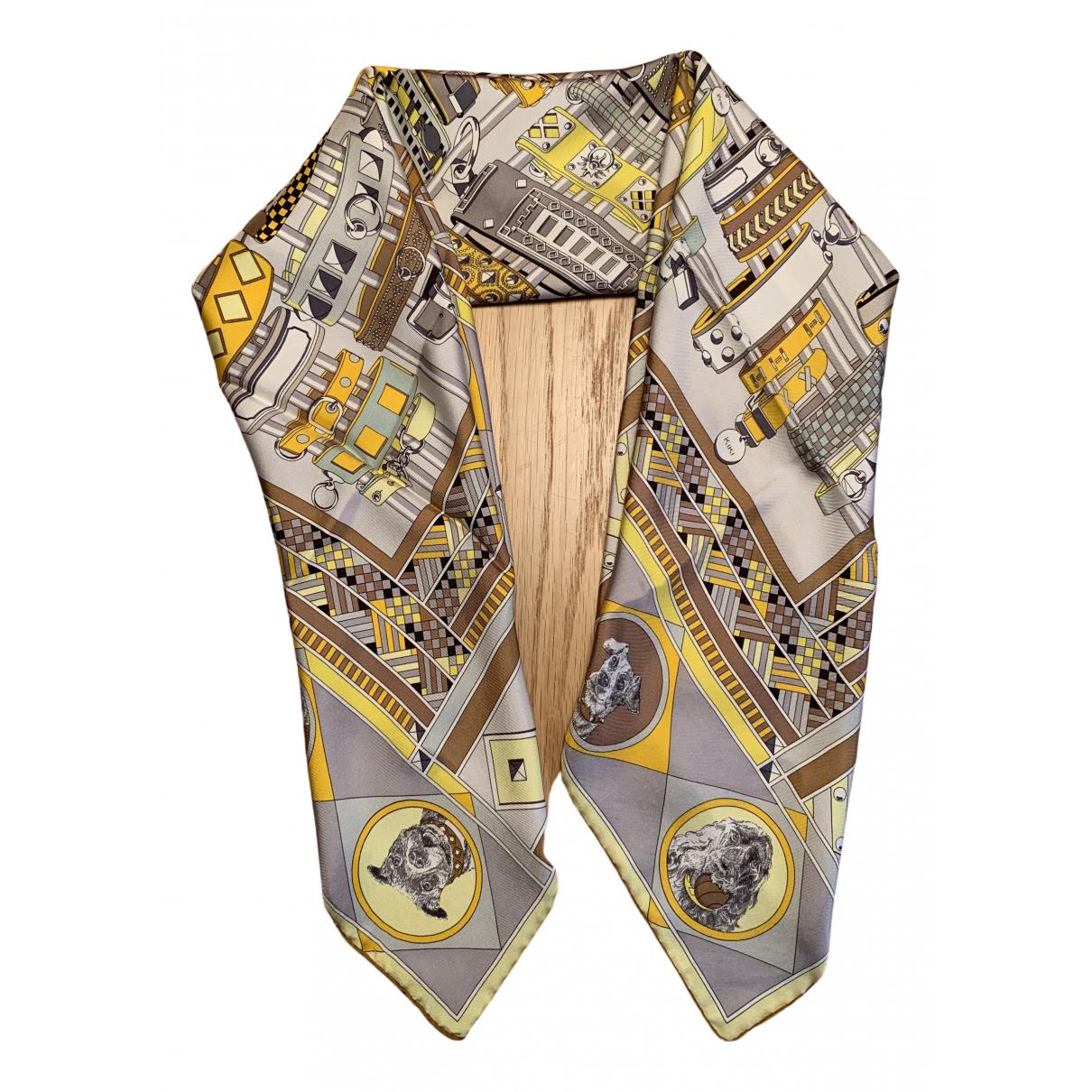 Hermès Carré 90 Yellow Silk Silk handkerchief for Women N