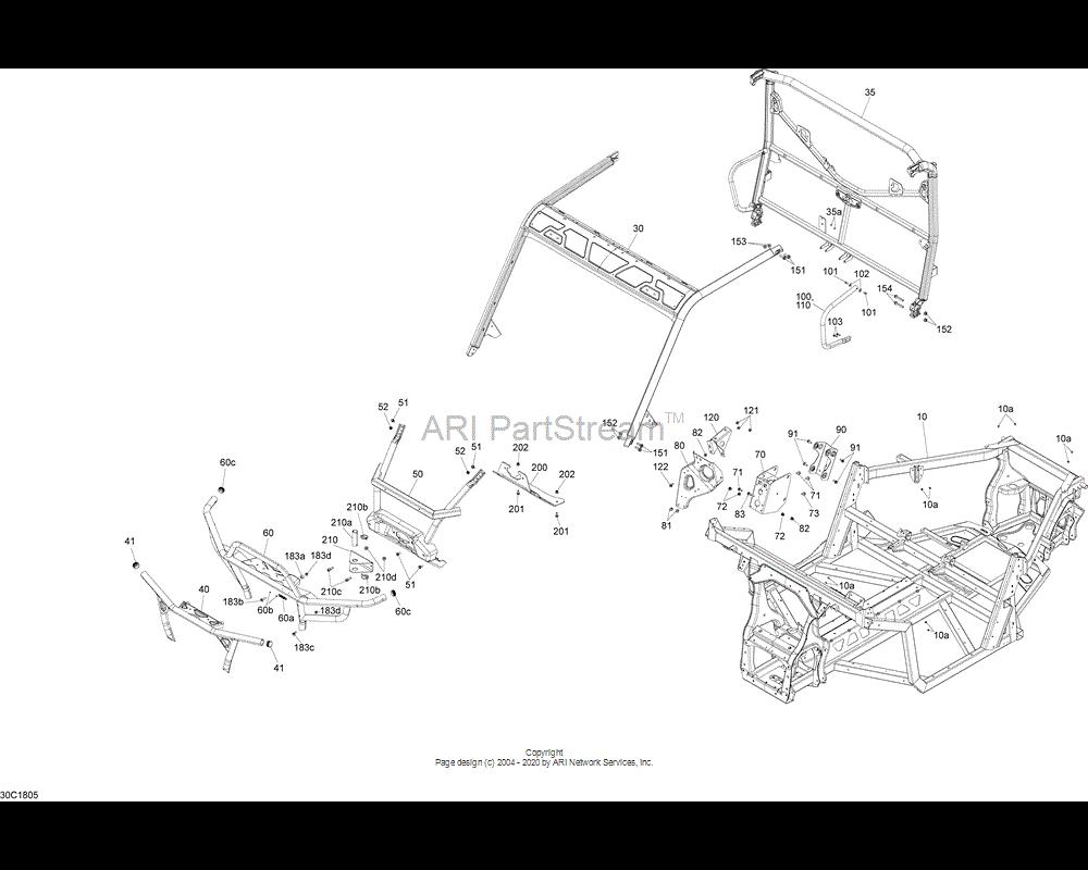 Can-AM OEM Frame Assembly Black