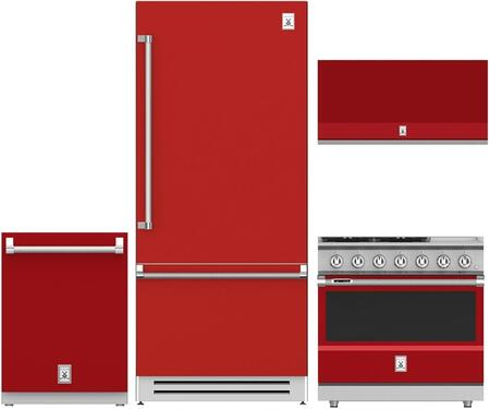 4-Piece Kitchen Appliances Package with KRBR36RD 36