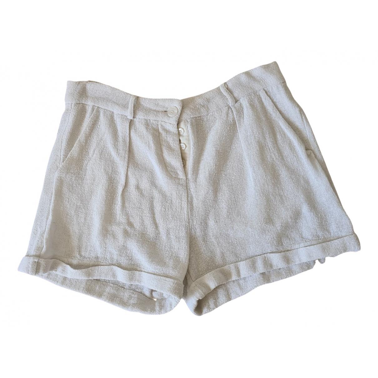 Maje Spring Summer 2019 Shorts in  Weiss Baumwolle