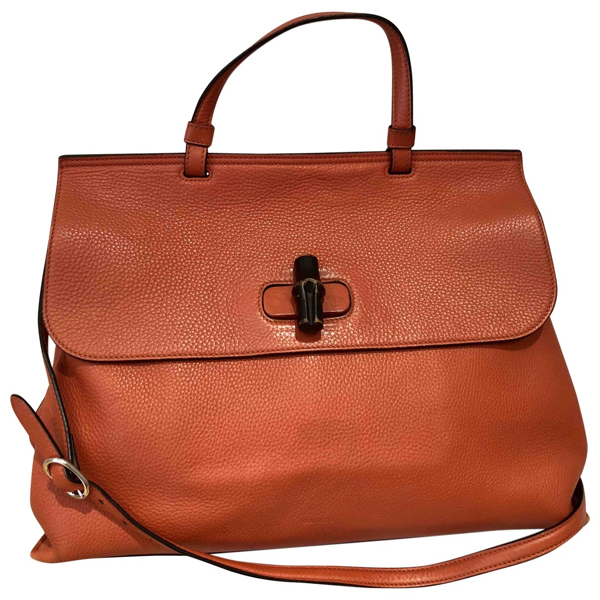 Gucci Bamboo Orange Leather handbag for Women \N