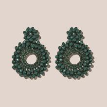 Bead Round Design Earrings
