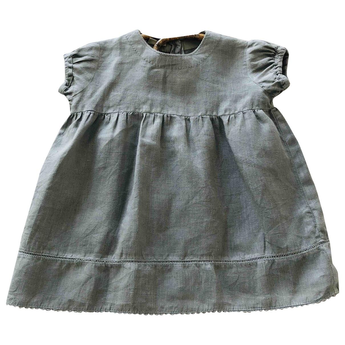 Caramel Baby & Child - Robe    pour enfant en lin - gris