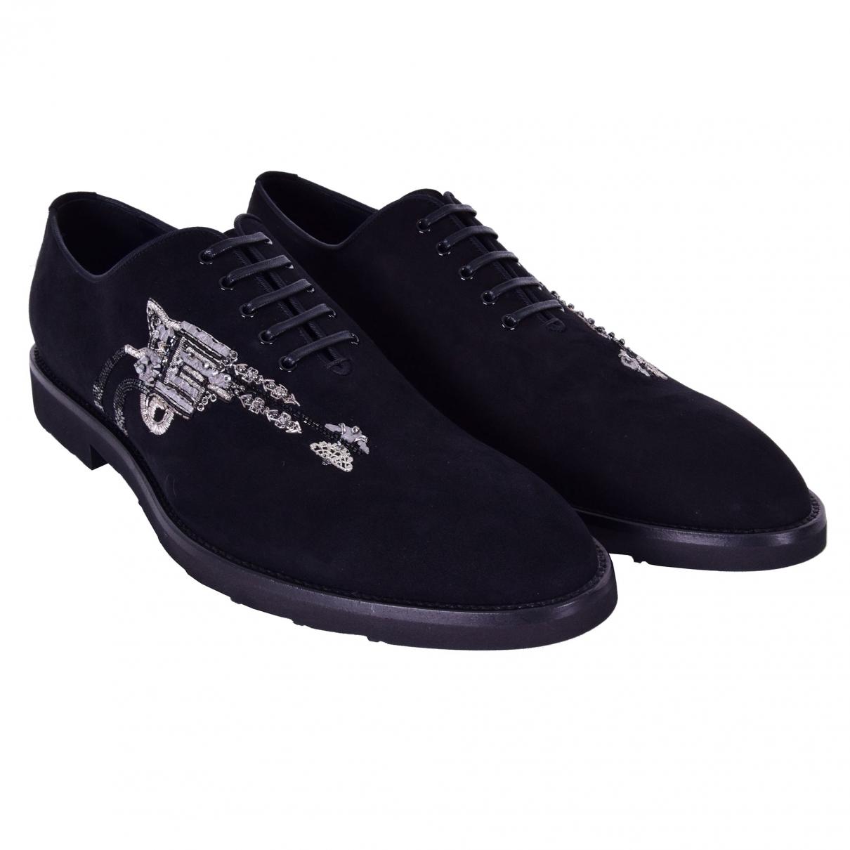 Dolce & Gabbana - Derbies   pour homme en suede - noir