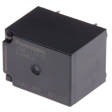 Panasonic , 12V dc Coil Automotive Relay SPDT, 15A Switching Current PCB Mount