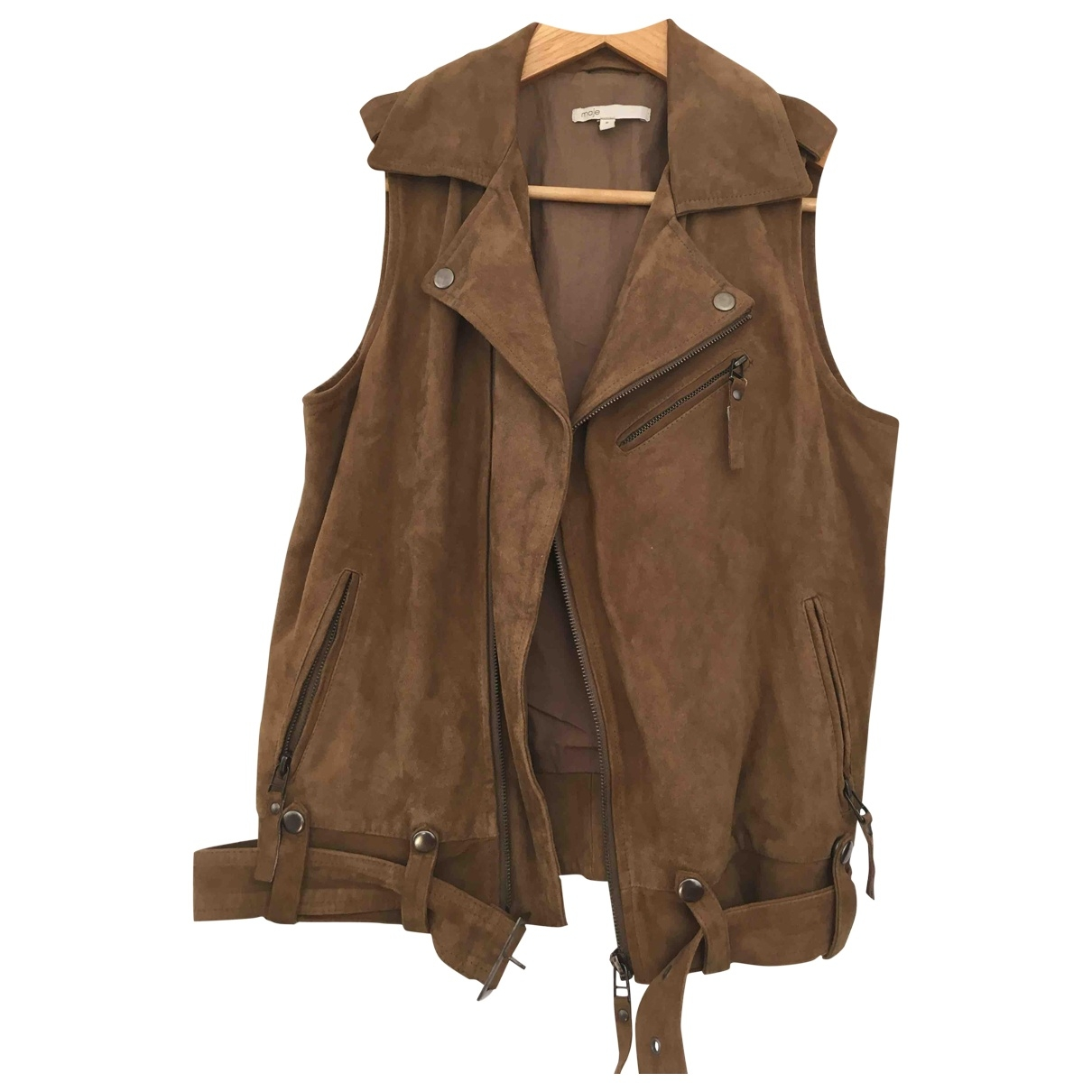 Maje \N Brown Suede jacket for Women 36 FR