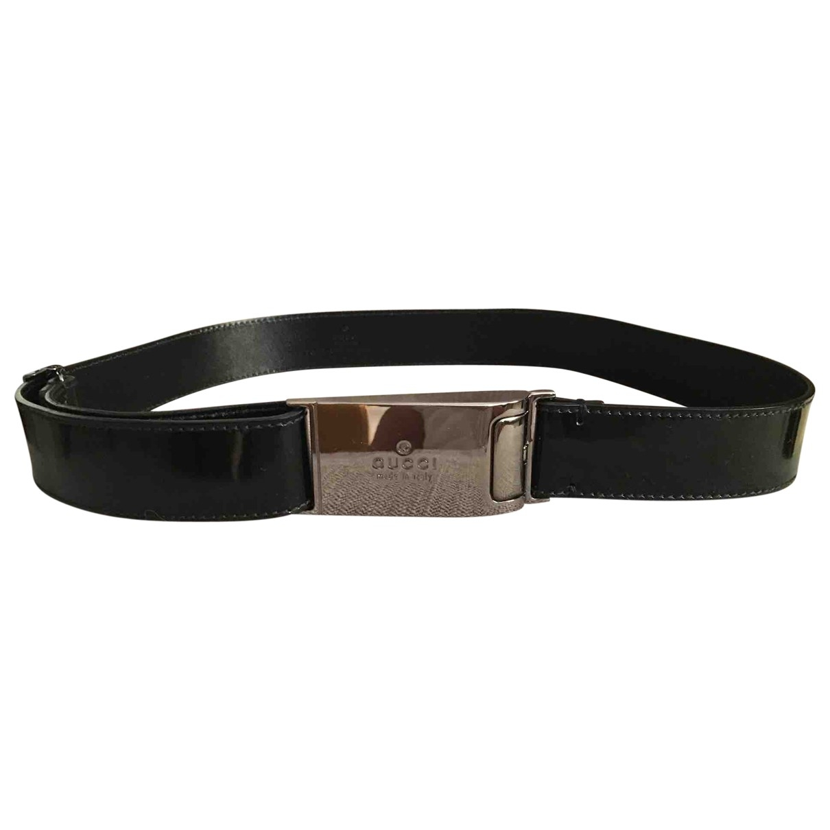 Gucci \N Black Patent leather belt for Women 70 cm