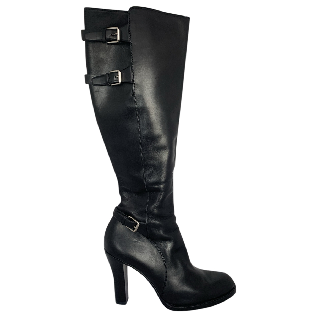 Ralph Lauren Collection \N Stiefel in  Schwarz Leder