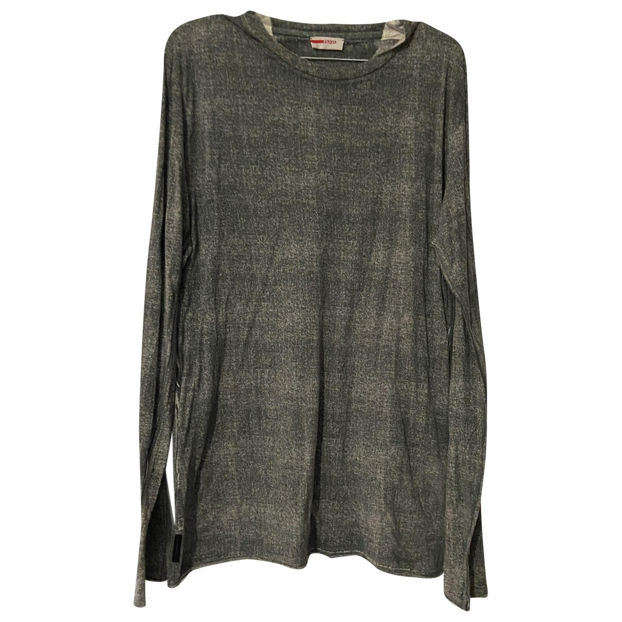 Prada N Grey Cotton T-shirts for Men L International