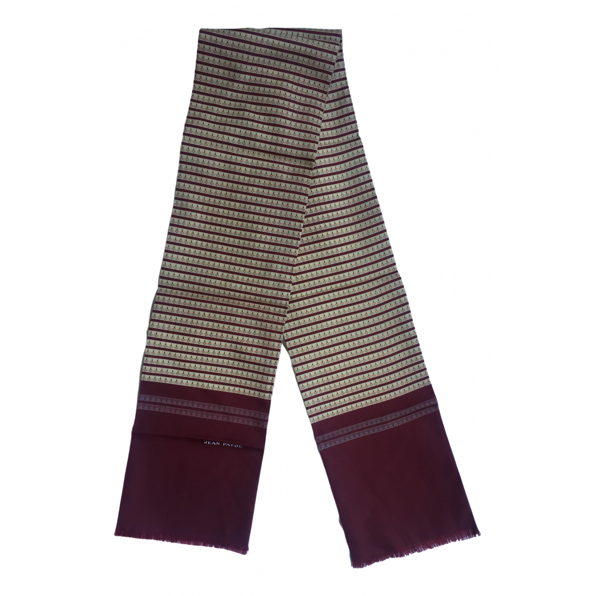 Jean Patou \N Burgundy scarf & pocket squares for Men \N