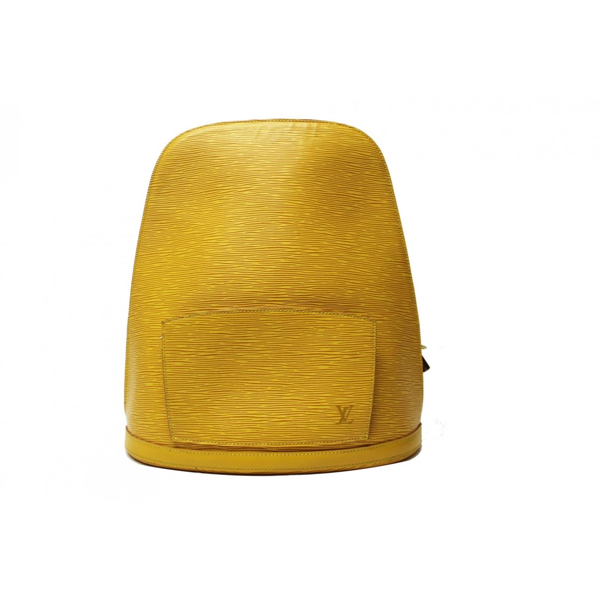 Louis Vuitton - Sac a dos   pour femme en cuir - jaune