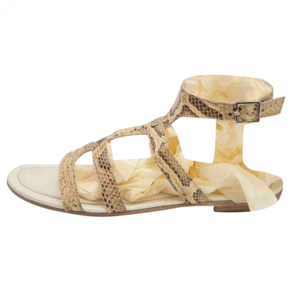 Tod's \N Beige Leather Sandals for Women 38.5 EU
