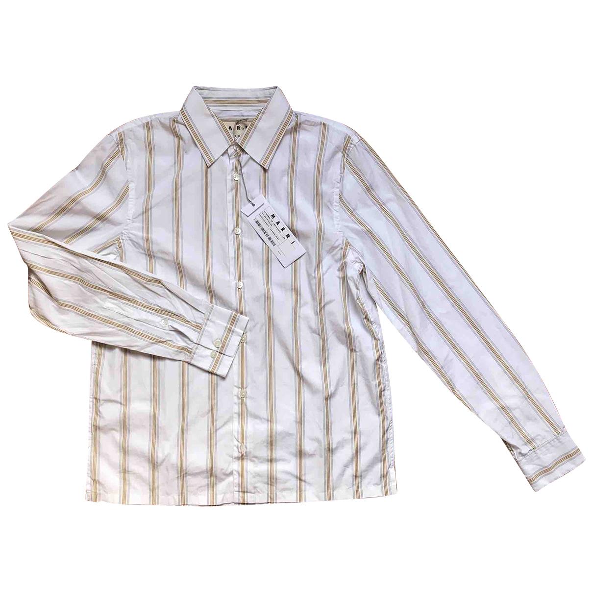 Marni - Chemises   pour homme en coton - blanc