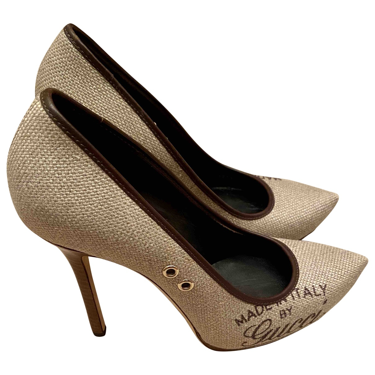 Gucci \N Beige Cloth Heels for Women 39 EU