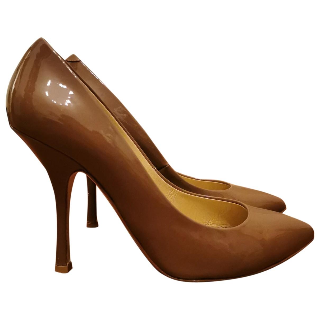 Giuseppe Zanotti \N Beige Patent leather Heels for Women 38.5 EU