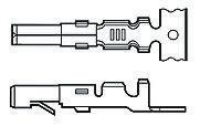 TE Connectivity , Commercial MATE-N-LOK Female Crimp Terminal Contact 13AWG 163302-6 (100)