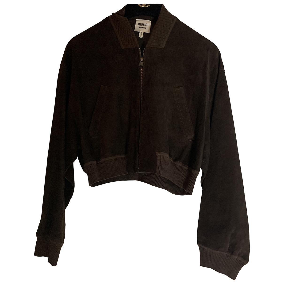 Hermes - Veste   pour femme en cuir - marron