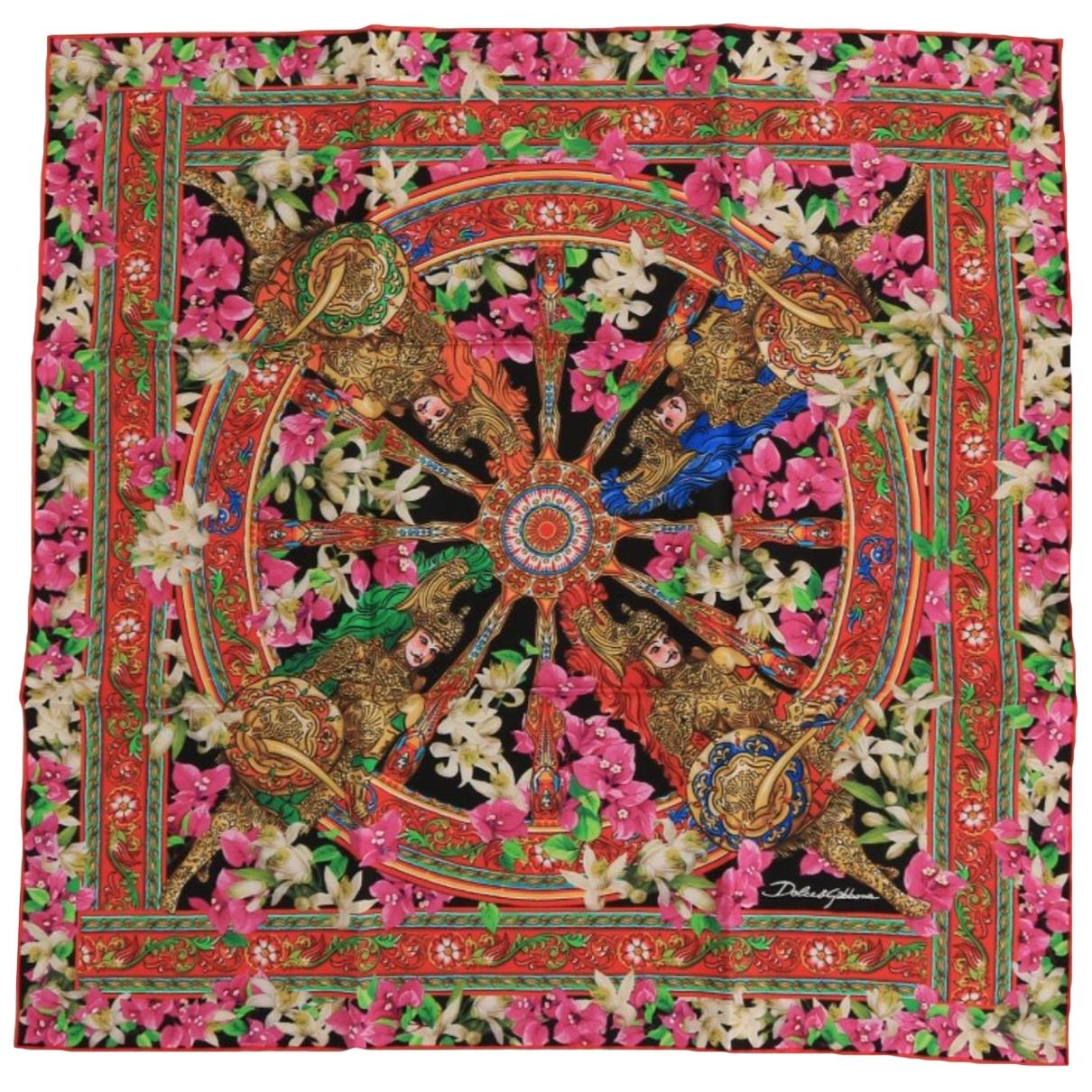 Dolce & Gabbana - Carre   pour femme en soie - multicolore