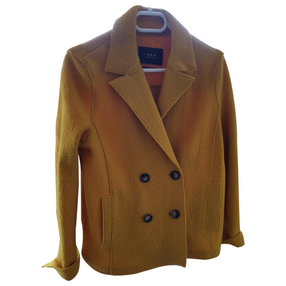 Set \N Jacke in  Gelb Wolle
