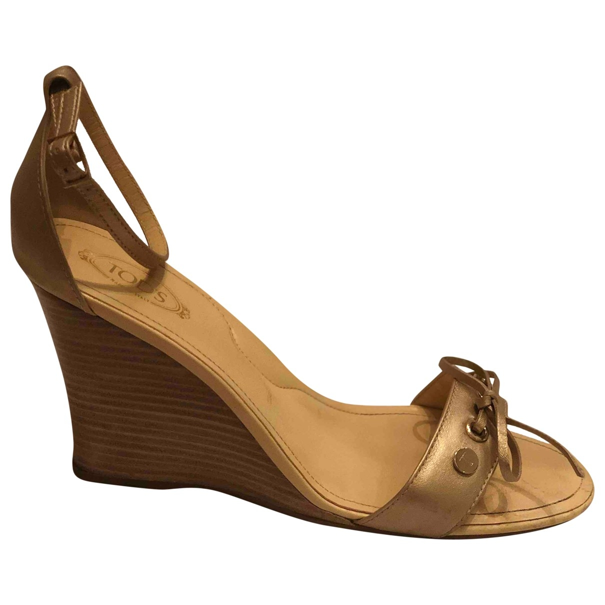 Tod's \N Beige Leather Sandals for Women 40 EU