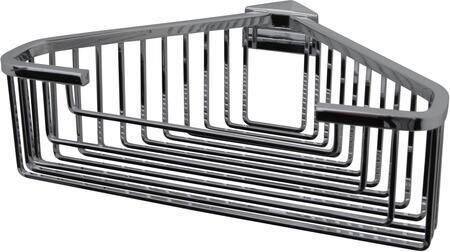 Essentials 53546NI Detachable Large Deep Square Rungs Corner Basket 3 1/4 H in Polished Nickel