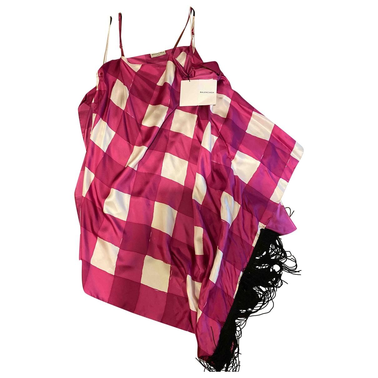 Balenciaga - Robe   pour femme en soie - rose