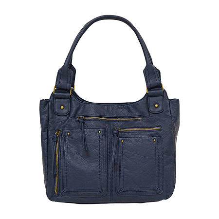 Bueno of California Washed Double Shoulder Bag, One Size , Blue