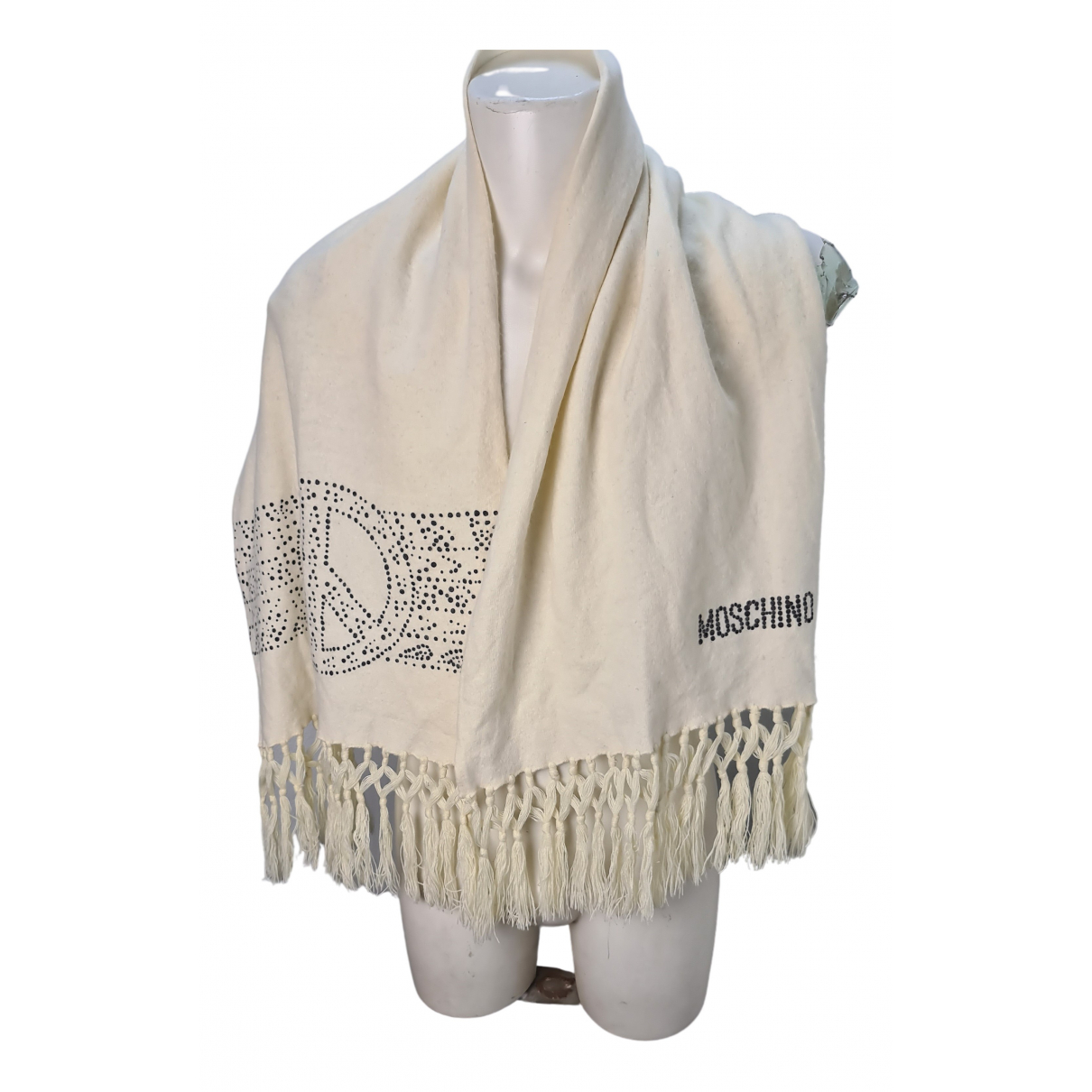Moschino - Foulard   pour femme en laine - blanc