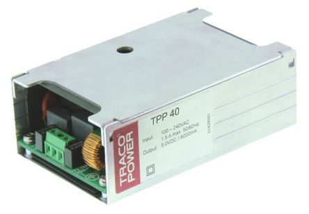 TRACOPOWER , 40W Embedded Switch Mode Power Supply SMPS, 12V dc, Enclosed, Medical Approved