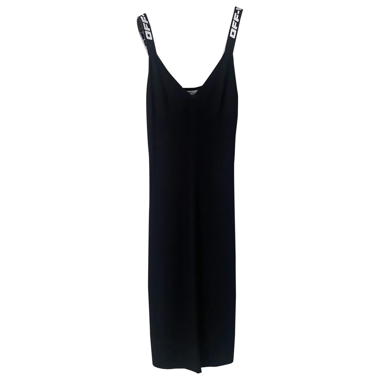 Off-white \N Kleid in  Schwarz Viskose