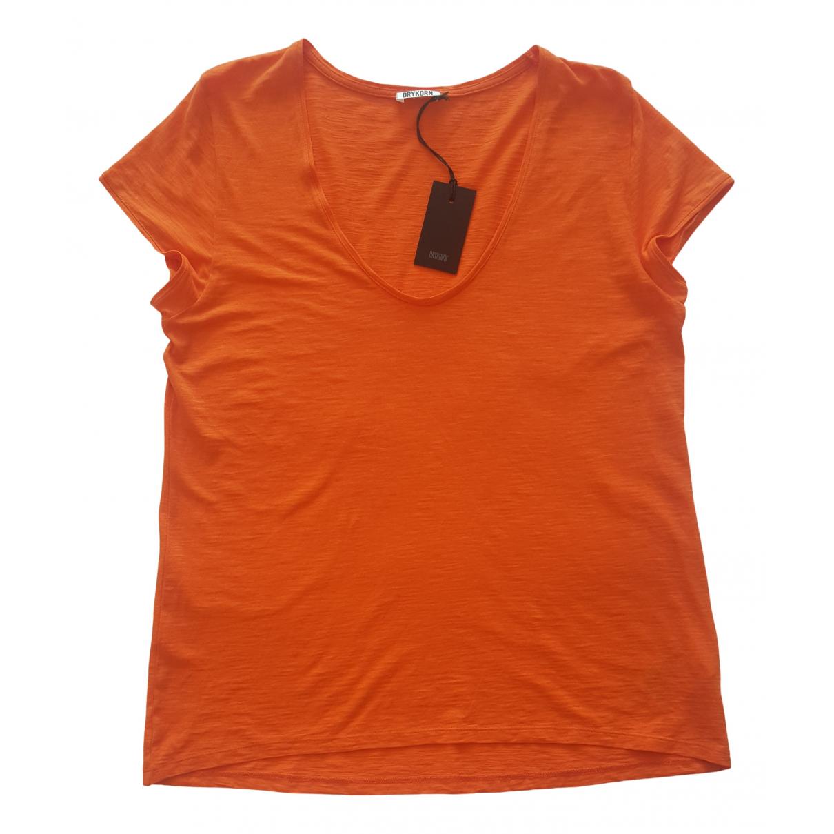 Drykorn N Orange Cotton  top for Women L International