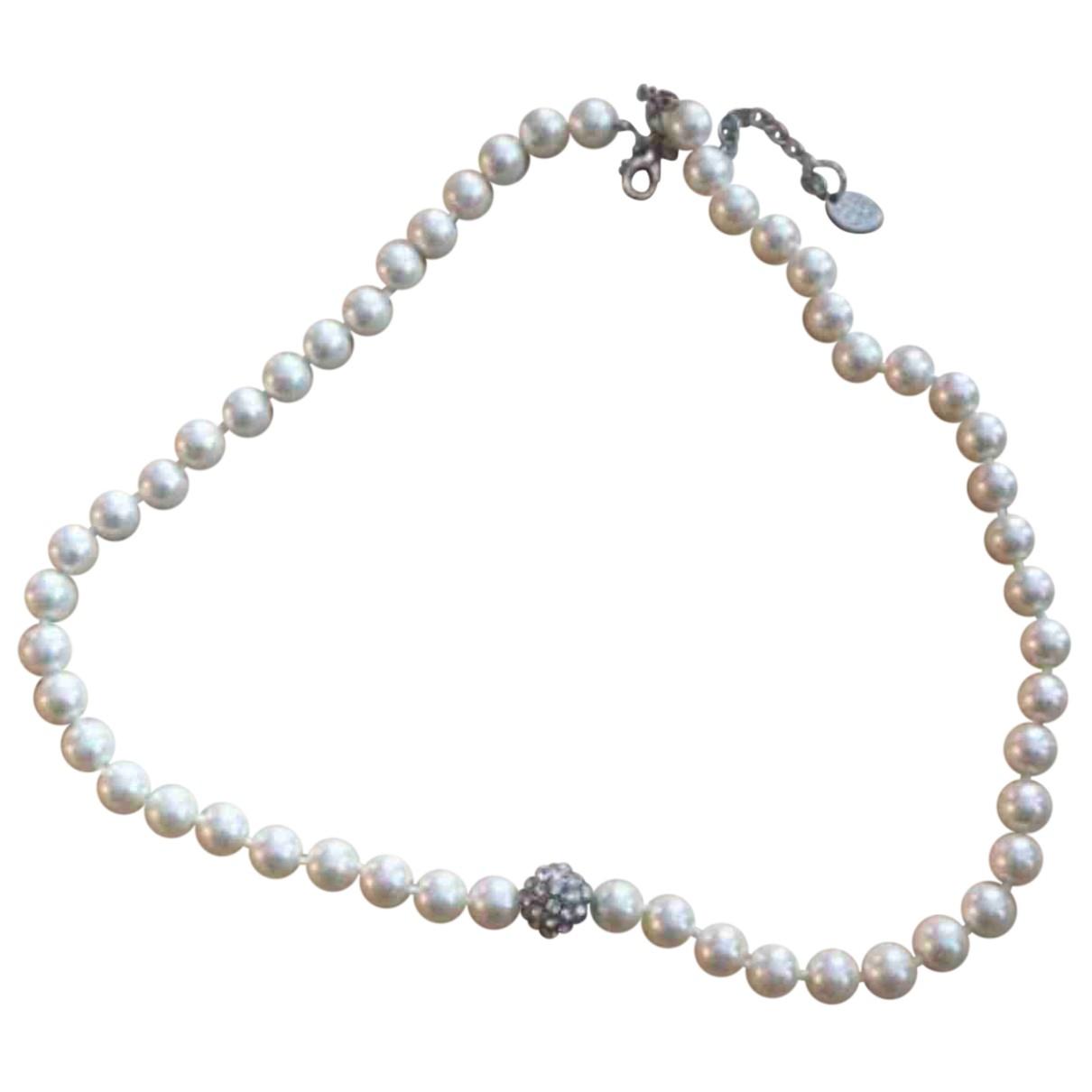 Autre Marque \N Kette in  Weiss Perlen