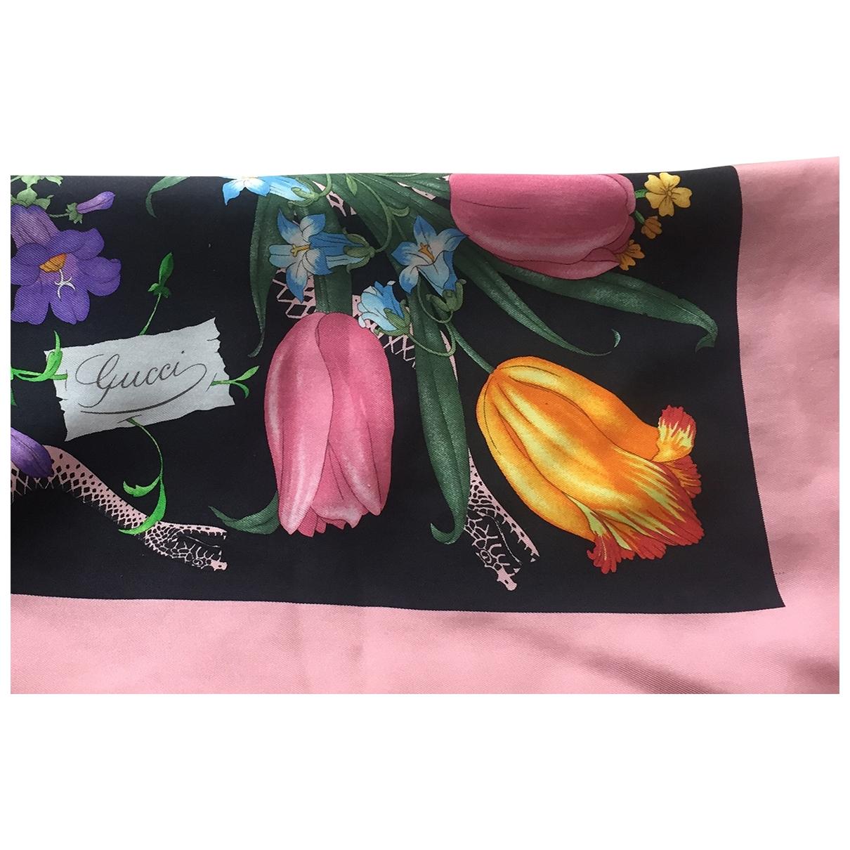 Gucci \N Black Silk Silk handkerchief for Women \N