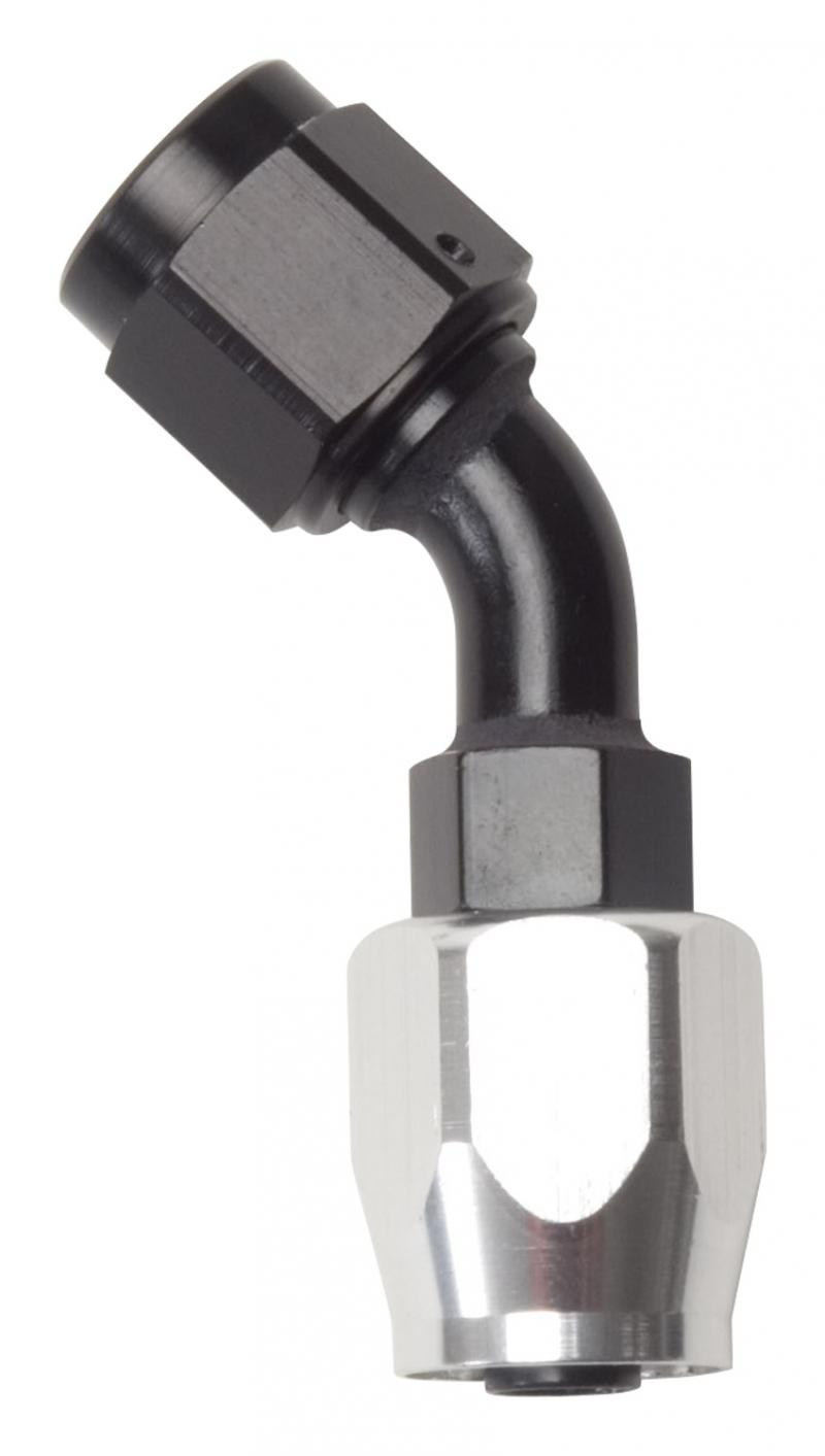 Russell HOSE END FULL FLOW 45 DEG-12 AN CLR/BLK FINISH