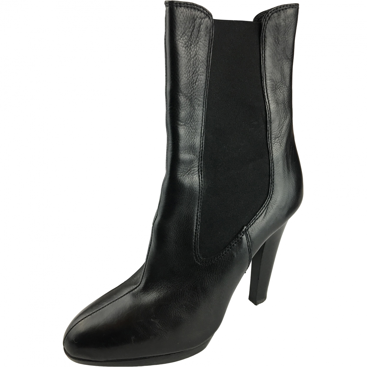 Miu Miu \N Black Leather Ankle boots for Women 39 EU