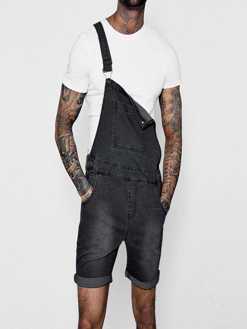 Ericdress Pocket Plain Shorts Jumpsuits/Overalls
