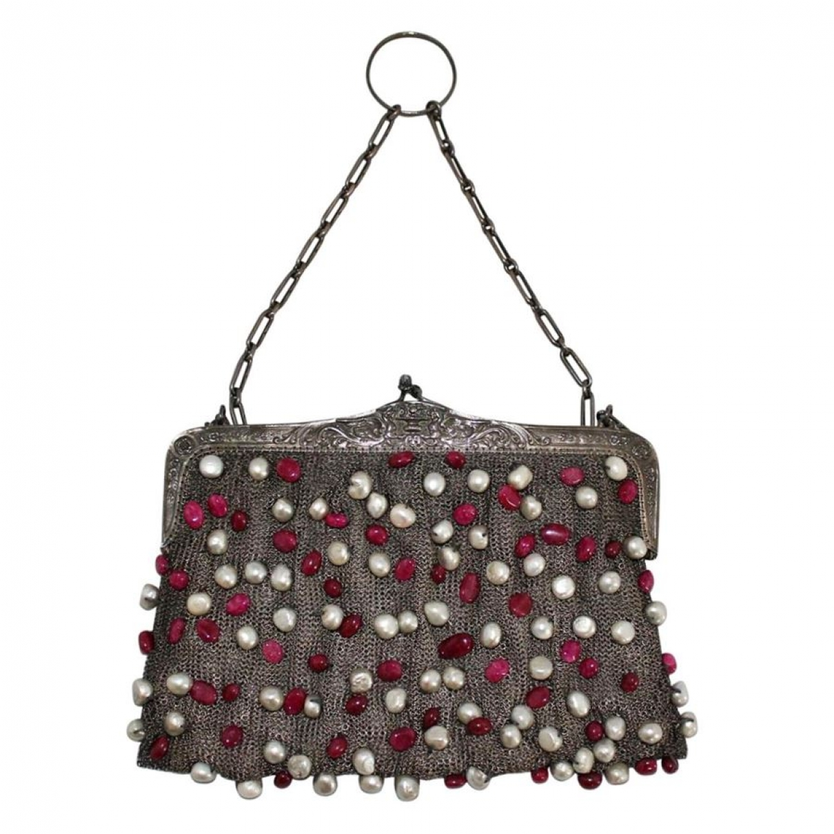 Non Signe / Unsigned \N Clutch in  Silber Metall