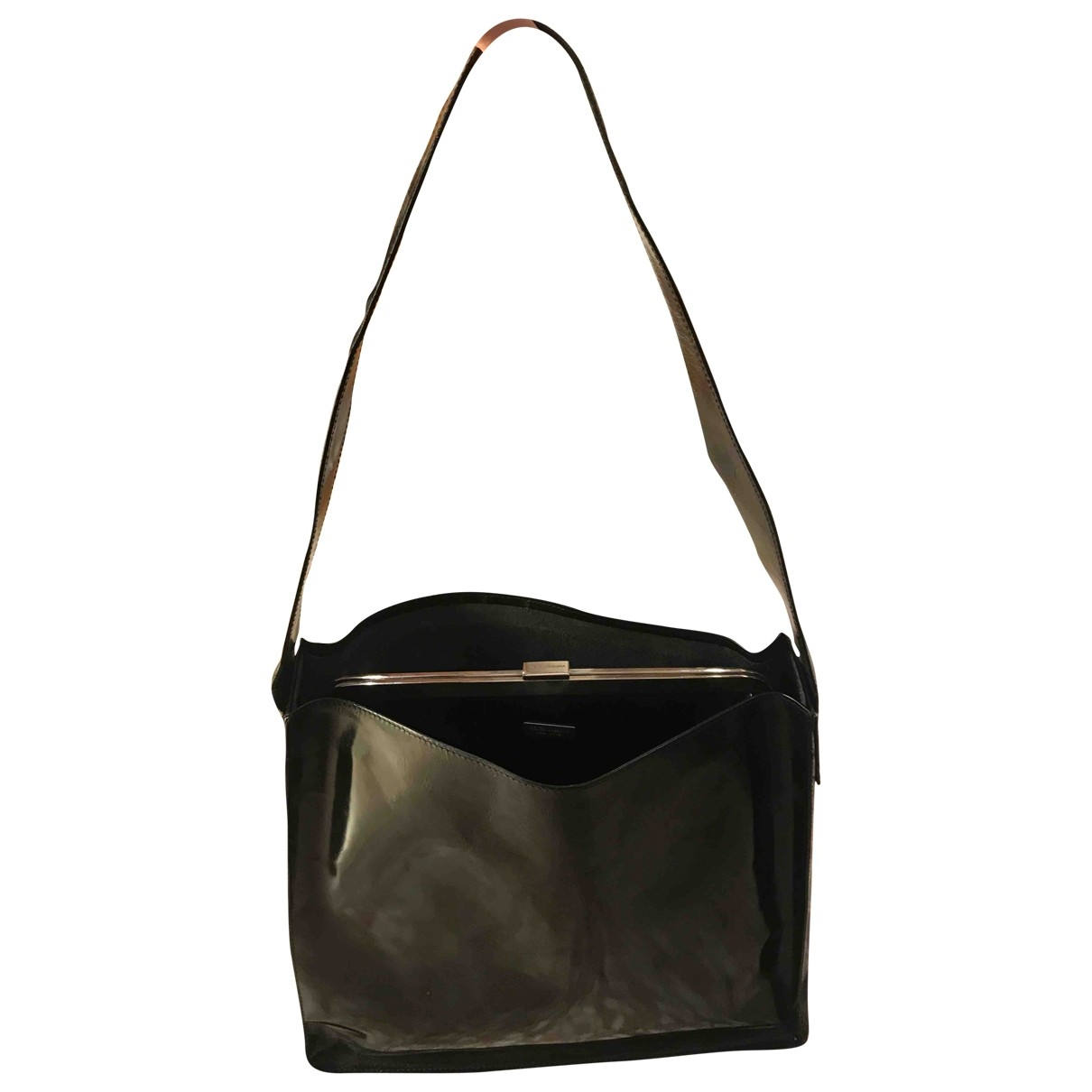 Dolce & Gabbana - Sac a main   pour femme en cuir verni - noir
