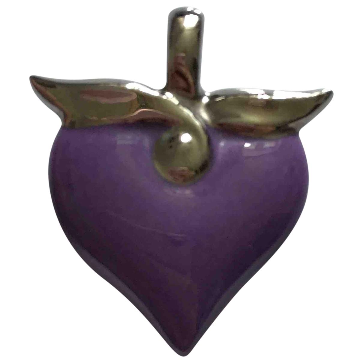 Bernardaud - Pendentif   pour femme en porcelaine - violet