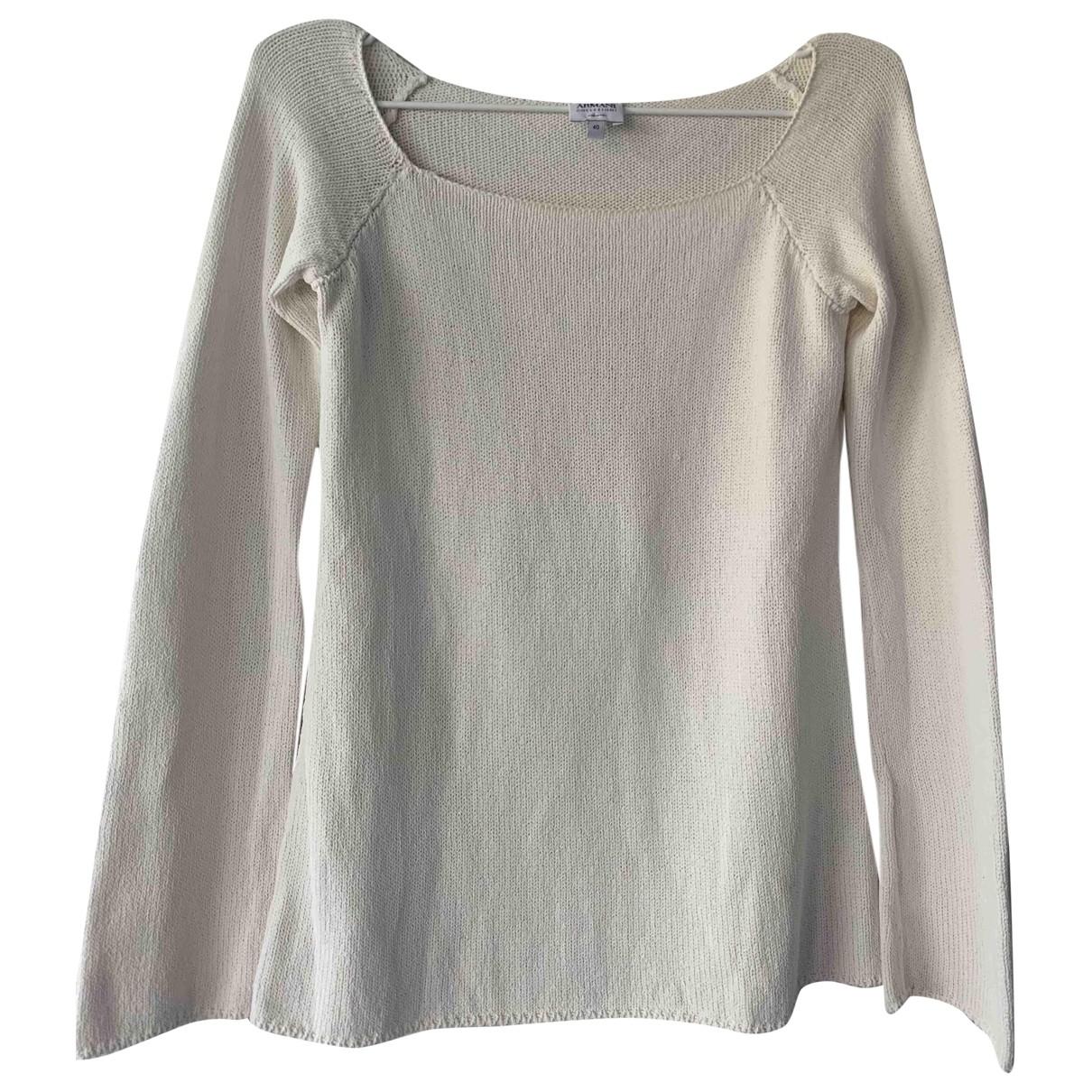 Armani Collezioni - Pull   pour femme - blanc