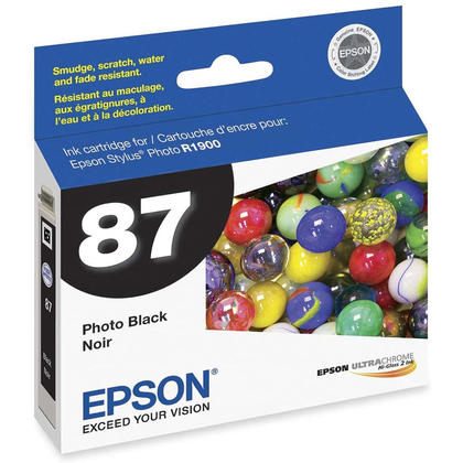 Epson T087120 Original Photo Black Ink Cartridge